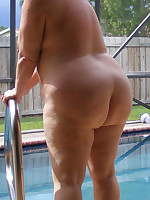 Fat nudists, mostly with big tits - Chubby Naturists