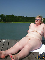 Chubby female nudists over 50 years old - Chubby Naturists