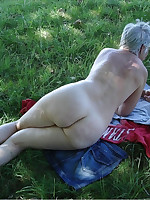 Asses of chubby nudist women and grannies - Chubby Naturists